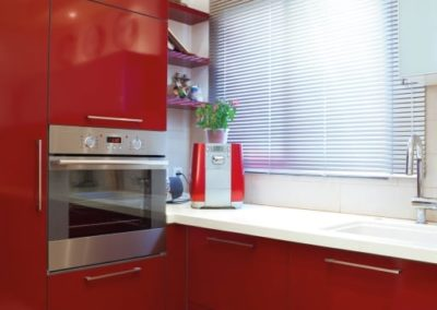 Aluminum Venetian In The Kitchen