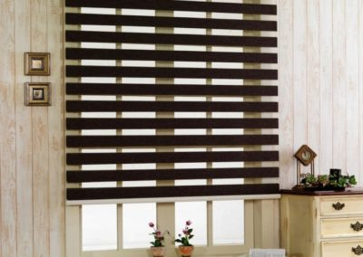 Black Double Roller Day and Night Blinds