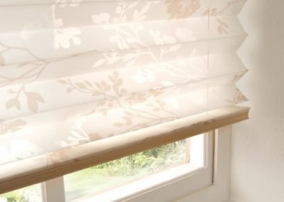 Floral Pleated Blinds