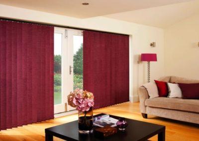 Sitting Room Crimson Vertical Blinds